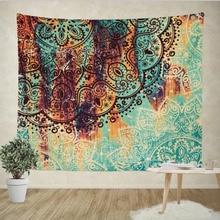 Indian Mandala Tapestry Wall Hanging Sandy Beach Throw Rug Blanket Camping Tent Travel Mattress Bohemian Sleeping Pad Tapestries