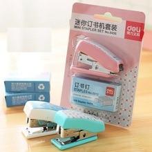 Mini stapler Set + No.10 staples office supplies stationery paper clip binding binder binder 3pcs free stapler paper binding binder office student stationery