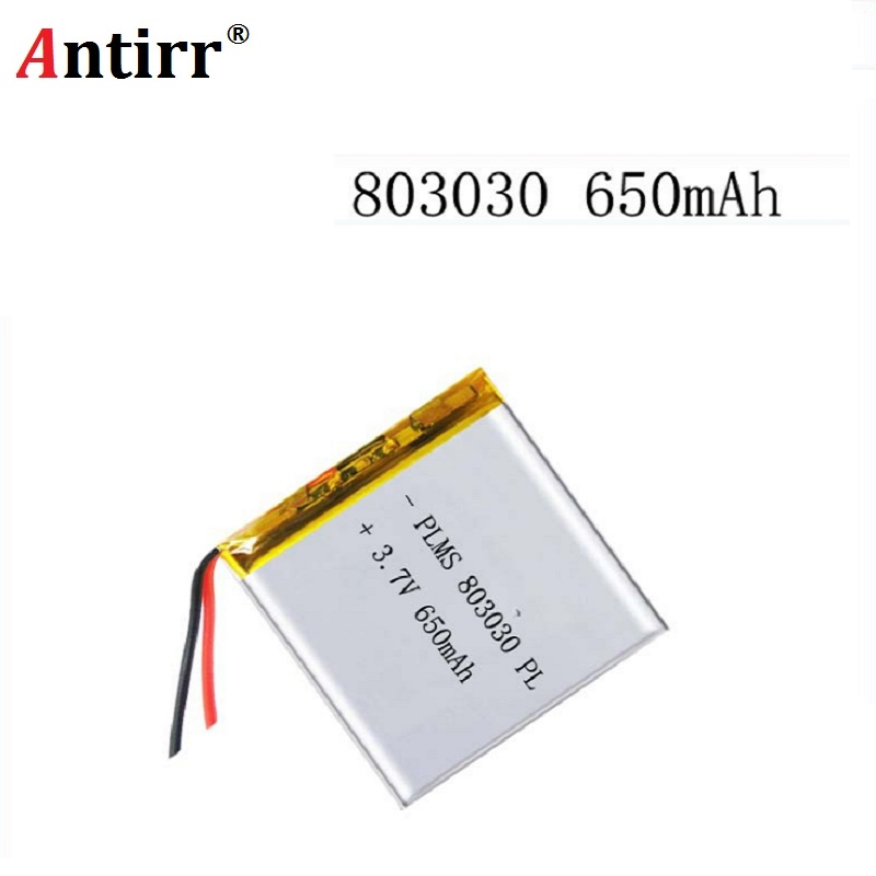 3.7V 650mah 803030 Lithium Polymer LiPo Rechargeable Battery For Mp3 Mp4 Mp5