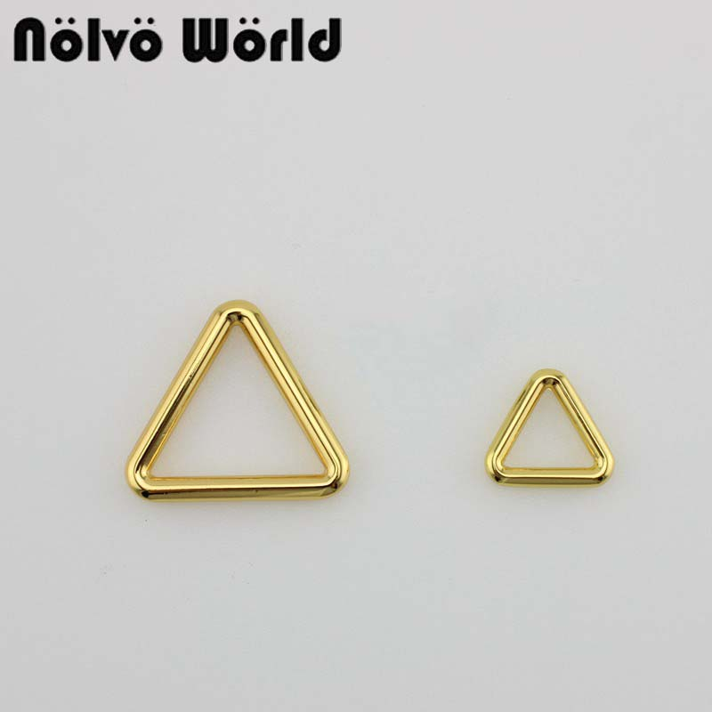 50pcs 4 Colors 17mm,26mm,33mm Metal Closed Triangle Ring For Bags Parts Alloy Hardware Round Edge D-rings