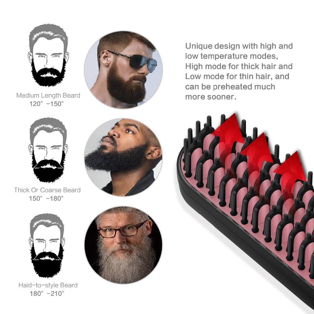 Beard And Hair Straightening Comb Beard Straightener