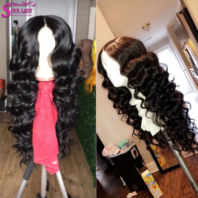 Transparent Swiss Lace Closure Loose Wave Wig Glueless Full Lace Human Hair Wigs Preplucked Peruvian Loose Wave Lace Front Wig