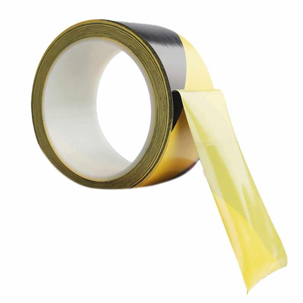車の修理装飾プレミアム黒/黄色ハザードテープ 33 メートル X 48 ミリメートル粘着マーキング障壁テープ 33 メートル × 48 ミリメートル Pvc フィルムコーティングされた # P40