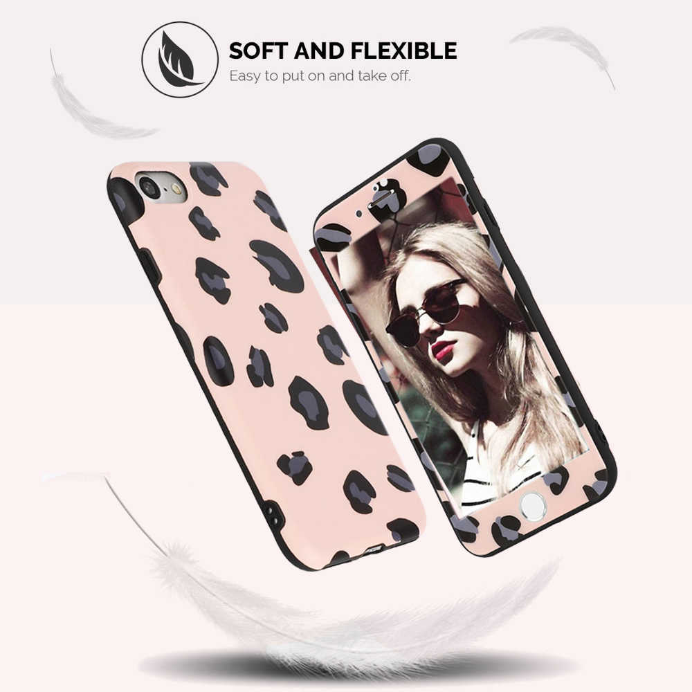 L-FADNUT בנות חמוד נמר 360 מסך מגן טלפון מקרה עבור iPhone Xr X Xs מקסימום 7 8 בתוספת 6 6S SE 2020 סיליקון כיסוי פגוש