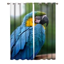 Животное попугай синий окна шторы для Гостиная декоративные элементы Гостиная