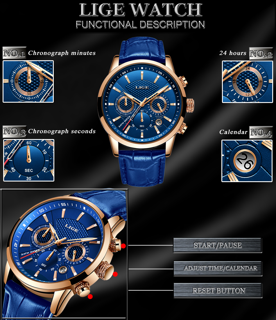 H7ce072db907040d08e9e44fac524ca79h LIGE New Men Watch Top Brand Blue Leather Chronograph Waterproof Sport Automatic Date Quartz Watches For Mens Relogio Masculino