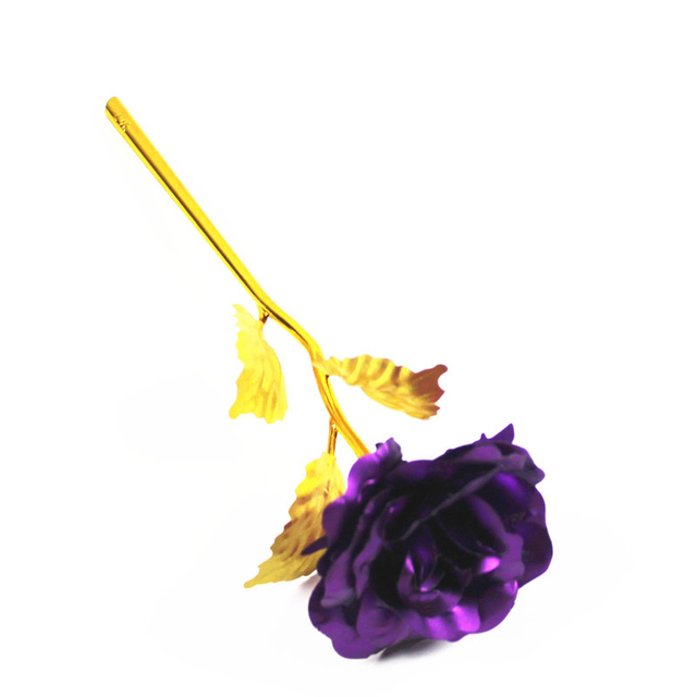24K Plated Rose Flower Valentines Day Gift Birthday Romantic High Quality 6