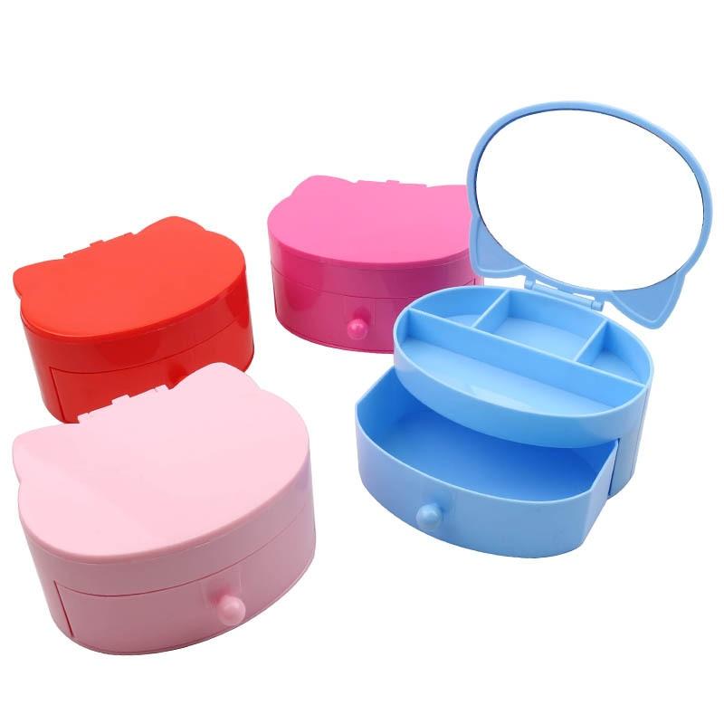 Cartoon Jewlery Box Hair Accessories DIY Heart Storage Box Girl Children Makeup Debris Headdress Gift Box