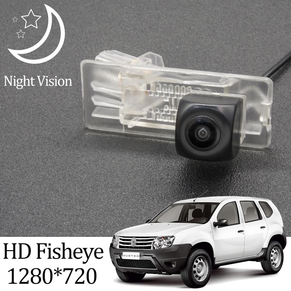 Owtosin hd 1280*720 fisheye câmera de visão traseira para renault duster/dacia duster/para nissan terrano 2009-2018 monitor de estacionamento do carro