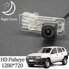 Owtosin Hd 1280*720 Fisheye Achteruitrijcamera Voor Renault Duster/Dacia Duster/Voor Nissan Terrano 2009-2018 Parkeer Monitor