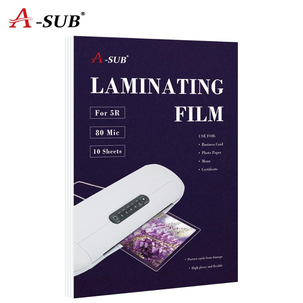 A4  80mic Thermal Laminating Film  PET+EVA For Business Card Strong Adhesive Plastifieuse