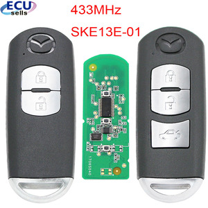 Image 1 - New Replacement Remote Key Fob 433Mhz 49 Chip For Mazda 3 6 CX 4 CX 5 MX 5 SKE13E 01 With small Key with Logo