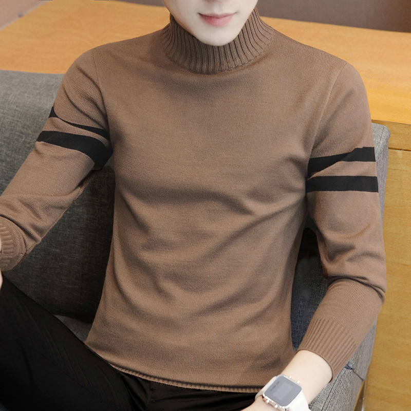 New Half-high-collar Fashion Comfortable Casual Sweaters Knitted Sweaters In Autumn And Winter