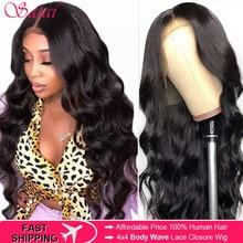 Satai Body Wave Human Hair 3 Bundels Met Frontale 100% Maleisische Haar Frontale Met Bundels Niet Remy Hair Extension