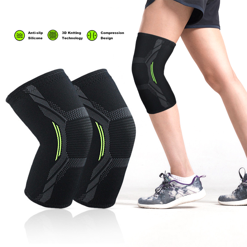 Four-way Stretch Knit Cycling Kneecap Nylon Pressurized Elastic Knee Pads Fitness Gear Basketball Volleyball Brace Protector