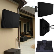Outdoor TV cover dustproof and waterproof Screen Cover 22'' To 65'' Inch Oxford Black Television Case