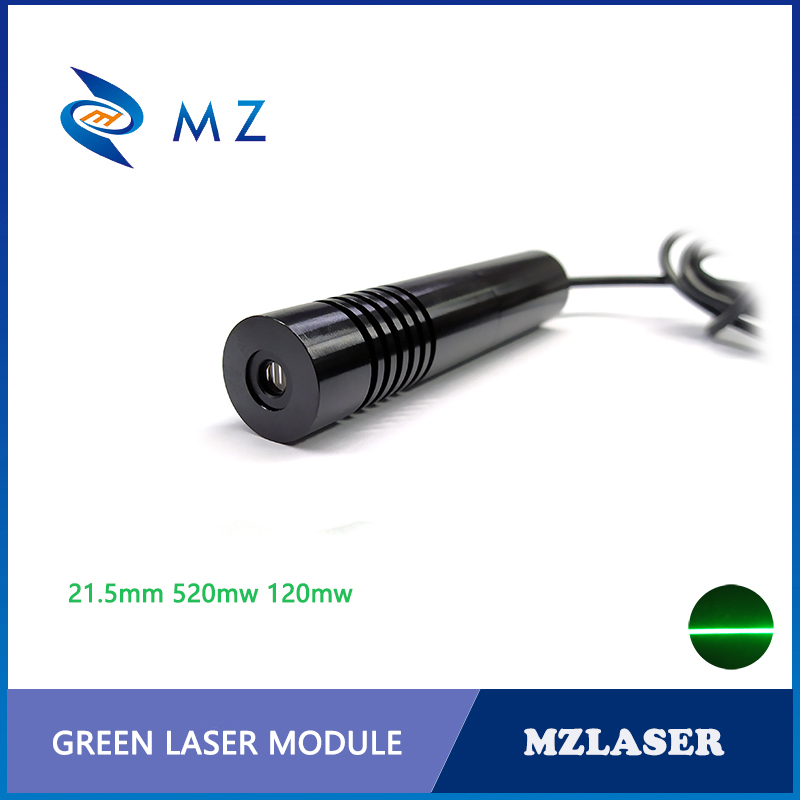 21.5x110mm High Quality 520nm 120mw 110degree Green Line Laser Module 520nm