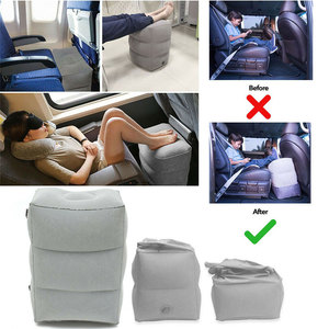 Image 5 - Newest Inflatable Portable Travel Footrest Pillow Flight Sleeping Leg Resting Comfortable On Airplane Car Train Kids Rest Pad