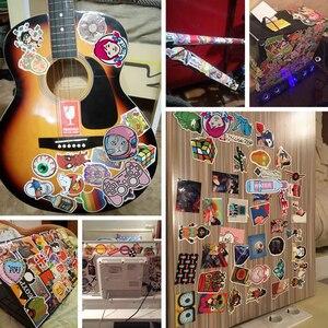 Image 5 - 10/20/30/40/50 sztuk paczka Cartoon Anime naklejki wodoodporne pcv deskorolka naklejki na bagaż gitara Laptop samochód fajne naklejki dla dzieci zabawki