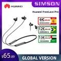 Беспроводные наушники Huawei FreeLace Pro, подлинные наушники-вкладыши Bluetooth с активным шумоподавлением и двойным микрофоном, 24 часа