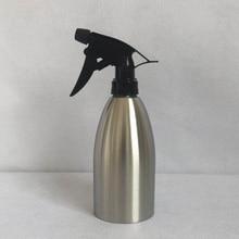 Stainless Steel Water Spray Bottle Flower Home Plant 400ml Watering Pot Silver Garden Supplies