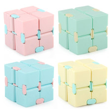 Infinito cubo mágico quadrado brinquedos de quebra-cabeça brinquedo fidget aliviar o estresse jogo de mão quatro canto labirinto brinquedos crianças adulto descompressão
