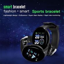 New D18s Smart Watch 1 44in Round Tft Color Screen Waterproof Watch Heart Rate Blood Pressure Monitor Smartwatch For Android Ios tanie tanio ZUIDID CN (pochodzenie) Na nadgarstek Zgodna ze wszystkimi 128 MB Krokomierz Rejestrator aktywności fizycznej Rejestrator snu