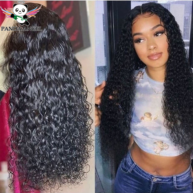Brazilian Kinky Curly Wig Lace Front Human Hair Wigs For Black Women 180% Pre Plucked 26Inch Remy Human Hair Lace Frontal Wigs