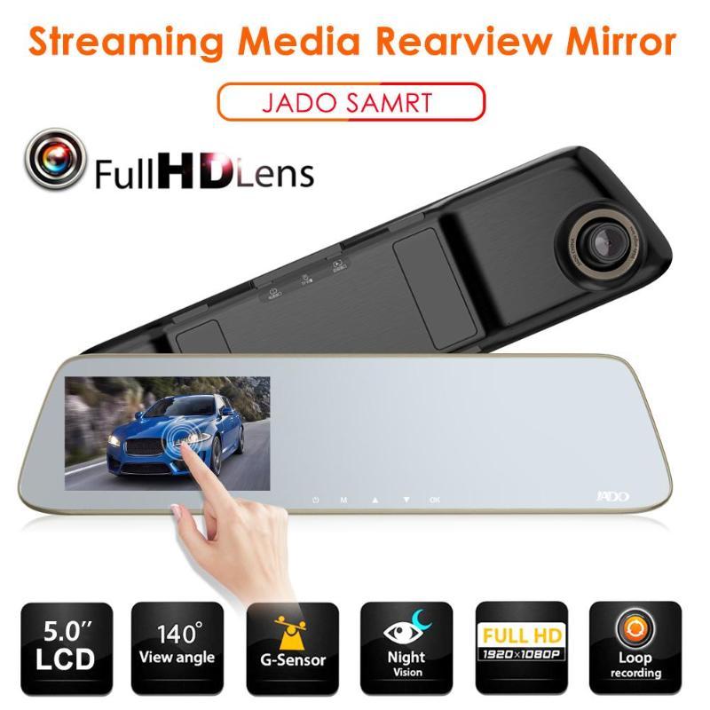 JADO Car-Camera-Recorder Dash-Cam DVR LDWS Touch-Screen Streamen Night-Vision Pro 1296p