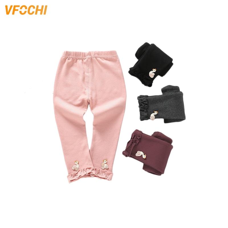 VFOCHI 2019 New Girls Leggings Spring Autumn Stretch Kids Girl Skinny Capris Pants Soild Color Cotton