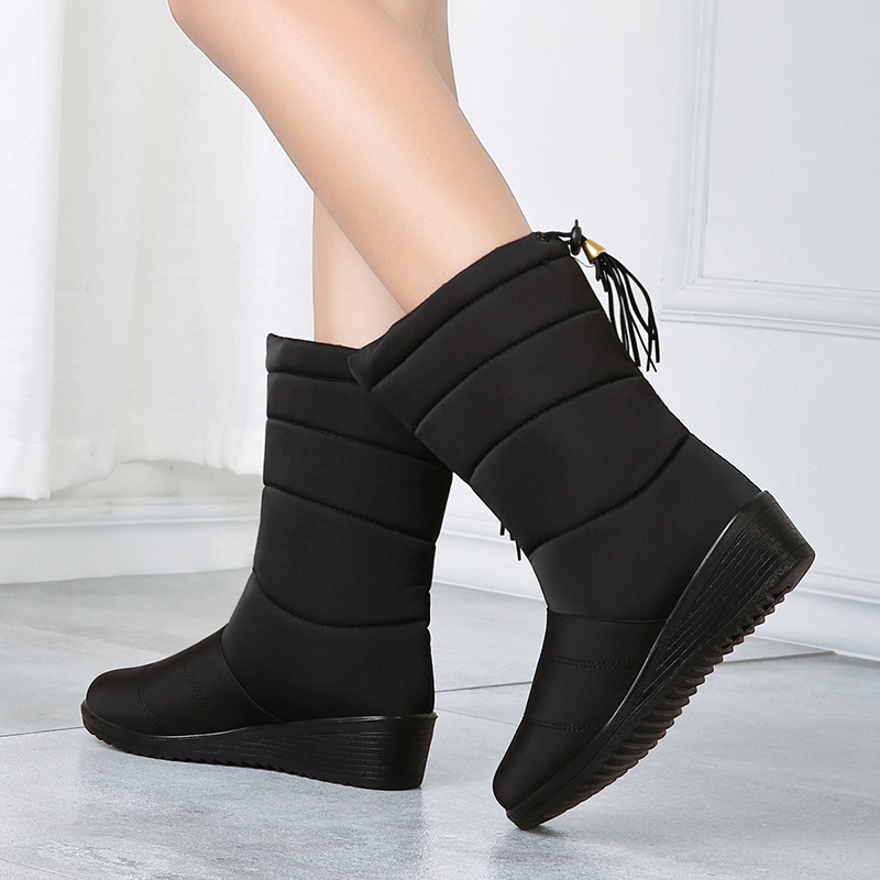 Women Winter Boots 2019 Women's Winter Shoes High Boots Botines Botas Mujer Down Boots Female Waterproof Ladies Snow Booties image