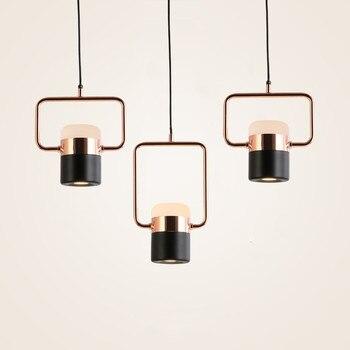 Nordic Simple Bar Bedside Led Pendant Lamps Creative Study Bedroom Bedside Single Metal Creative Cafe Showcase LED COB Lamp