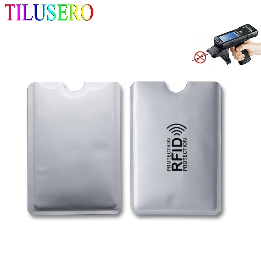 5pcs Anti Rfid Blocking Reader Lock Bank Card Holder ID Bank Card Case Rfid Protection Metal Credit Card Holder Aluminium
