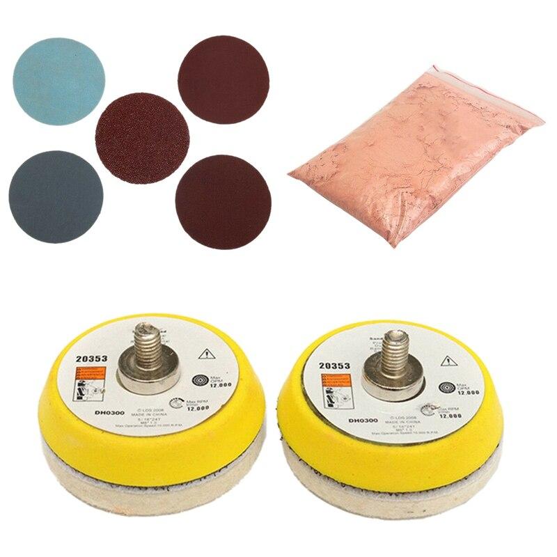 34Pcs Car Windscreen Scratch Remover Glass Polishing Cerium Oxide Wheel Pad Polishing Kit|Polishers| |  - title=