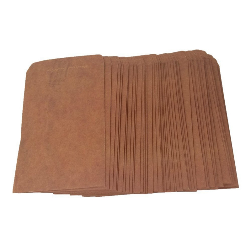 50pcs Retro Style Kraft Paper Envelops Postcard Invitation Letter Stationery Paper Bag Vintage Air Mail Gift Envelope Brown