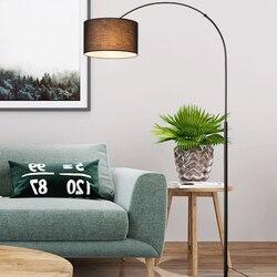Nordic floor lamp bedroom living room creative modern minimalist LED bedside long arm fishing study black floor lamp