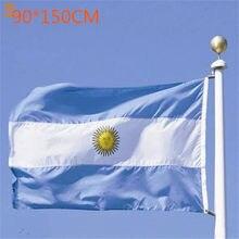 Darmowa wysyłka wysokiej jakości argentyna poliester flaga narodowa 3x5Ft festiwal/dekoracja Banner flaga