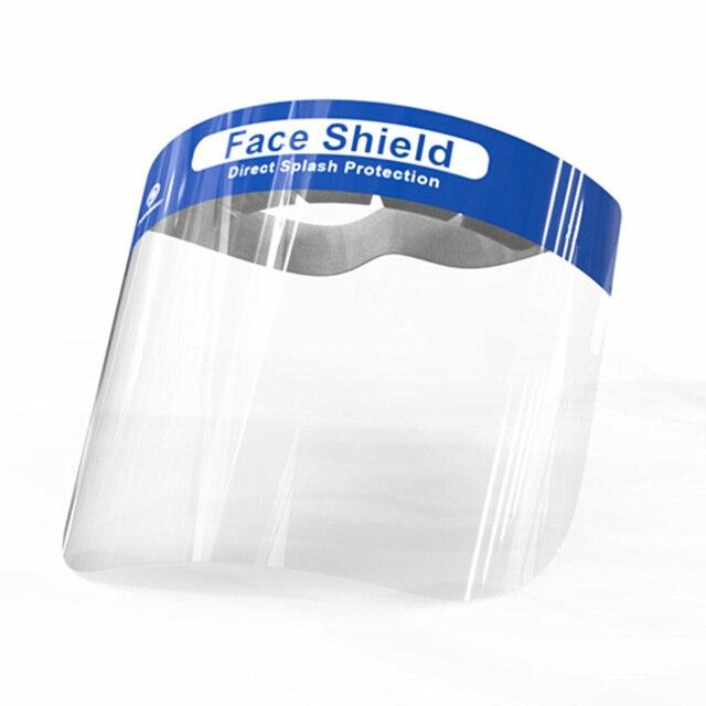 2pcs Anti Virus Full Covering Face Shield Anti Droplet Saliva Mask Facial Protective Mask Hat Eyes Protection Adjustable Visor