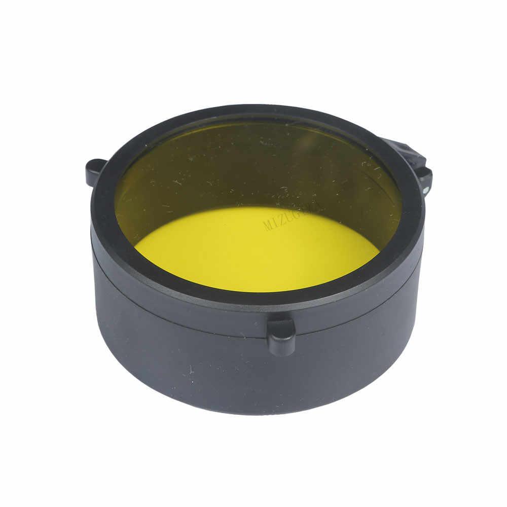 Cubierta del Visor transparente, protección de 30mm-69mm, cubierta de lente abatible hacia arriba, tapa de resorte rápido, objetivo amarillo, tapa de lente para caza