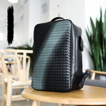 Computer Backpack Woven-Bag Casual-Bag Genuine-Leather Fashion Luxury Large-Capacity