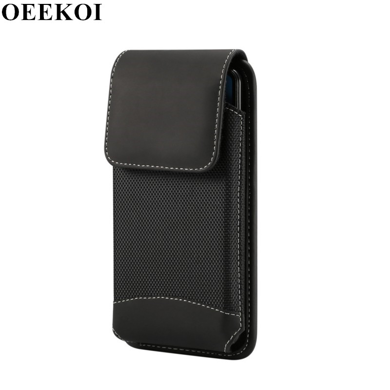 OEEKOI Universal Durable Oxford Cloth Belt Clip Pouch <font><b>Case</b></font> <font><b>for</b></font> <font><b>Lenovo</b></font> ZP/K11/<font><b>S939</b></font>/Vibe Z2 Pro K920/Z6 Pro/Z6/K6 Play image