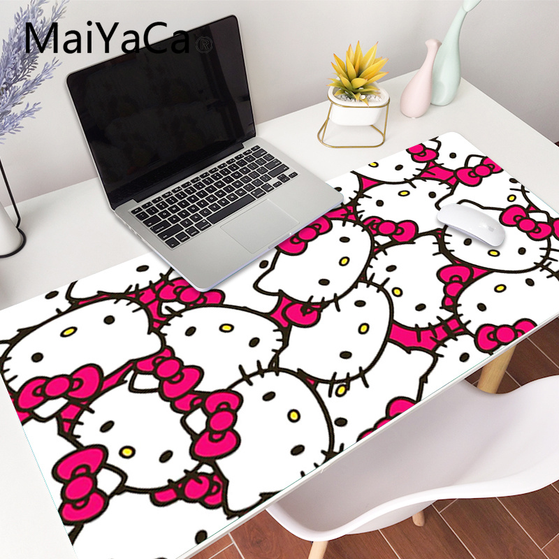 Pink Hello Kitty cat <font><b>Mouse</b></font> Mat Gaming Mousepad Free Shipping <font><b>Large</b></font> 90x40cm <font><b>Mouse</b></font> <font><b>Pad</b></font> Keyboards Mat Desk mat <font><b>XXL</b></font> mousepad image