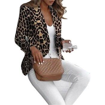 Leopard Spring Women's Jackets Plus Size Short Female Coa  Long Sleeve Polka Dot Women Bomber Jacket Outwear