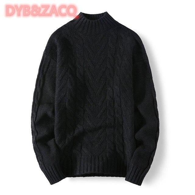 Мужской трикотажный свитер с круглым вырезом и длинным рукавом 5