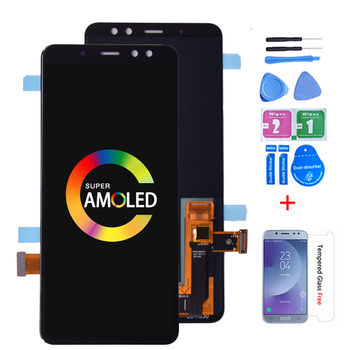 Super Amoled For SAMSUNG GALAXY A8 2018 A530 A530F LCD Display Touch Screen Digitizer Assembly A8 2018 Duos LCD A530F/DS