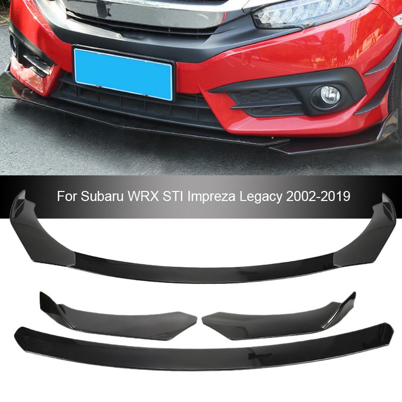 New Car Front Bumper Lip Chin Protector Body Kits Splitter Diffuser For Subaru WRX STI Impreza Legacy 2002-2019 Auto Accessories
