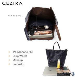 Image 3 - CEZIRAมังสวิรัติหนังแฟชั่นผู้หญิงToteกระเป๋าถือ 2 สีReversibleสุภาพสตรีขนาดใหญ่กระเป๋าสะพายCrossbodyกระเป๋าHobo