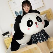 Hot 1PC 35/55/80CM Panda Plush Toys Cute Baby Big Giant Panda Plush Stuffed Animal Doll Animals Toy Pillow Girls Christmas Gifts стоимость