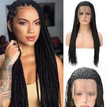 Black Wig Lace-Wigs Long-Hair Hair-Box Synthetic High-Tempeprature Charisma with Baby