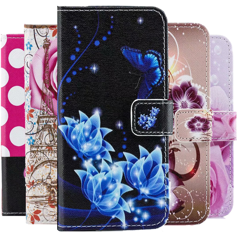 Floral Leather Wallet Case For Huawei Honor 9C 9A 9S Y5P Y6P 10i 10 Lite 20 Pro 8A 8S 8X 8C P30 P40 Lite E Y7 Y5 Y6 2019 Cover